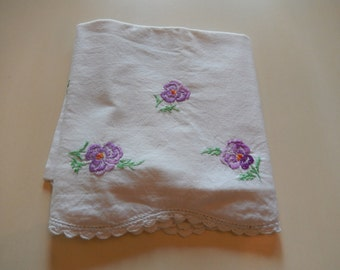 CROCHETED and EMBROIDERED  PILLOWCASES