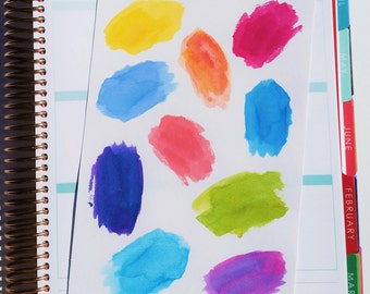 Watercolor Paint swatch Stickers (P168)
