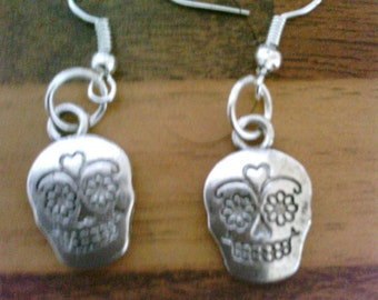 Gothic Style skeleton face Earrings