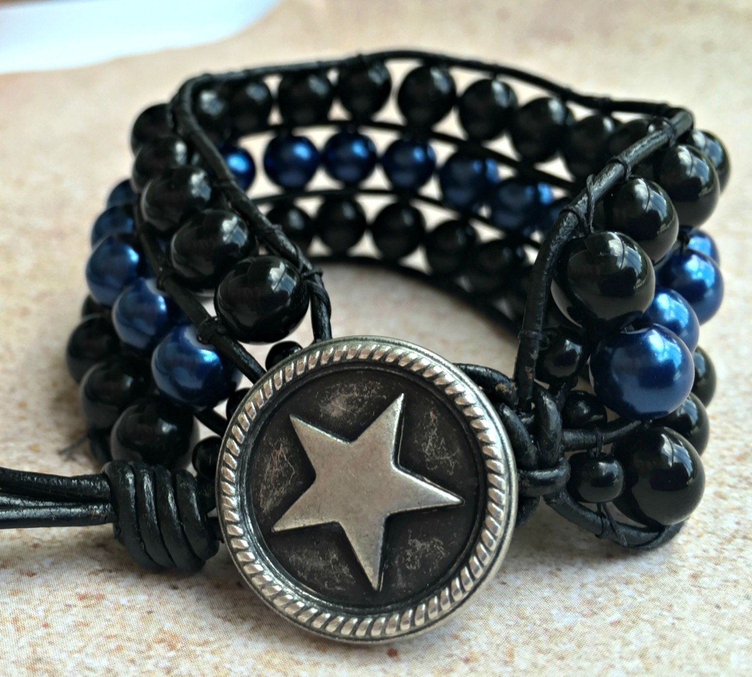 thin blue line bracelet police jewelry thin blue line. Black Bedroom Furniture Sets. Home Design Ideas
