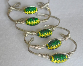Univeristy of Oregon inspired cuff bracelet