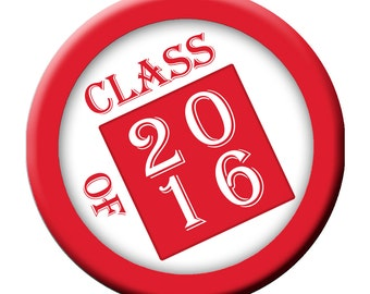 "In The Box Class of 2016 3"" Pinback Button"