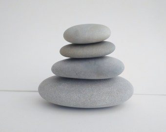 4 Beach stones 4 to 8 cm, 1.57 to 3.15 inches, atlantic beach stones, rocks, natural beach stones, pebbles for craft, zen stones