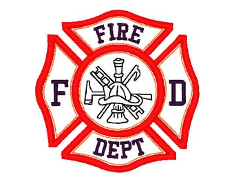 Fire Department shield Applique