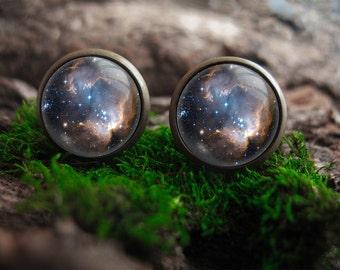 nebula stud earings galaxy stud earrings tiny space earrings astronomy post earrings galaxy earrings astronomy earring posts galaxy jewelry