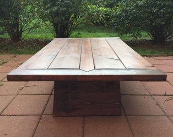 Craftsman Style Plinth Coffee Table