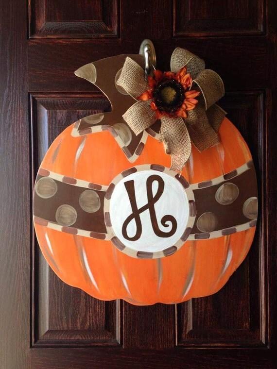 Items Similar To Pumpkin Fall Door Hanger On Etsy