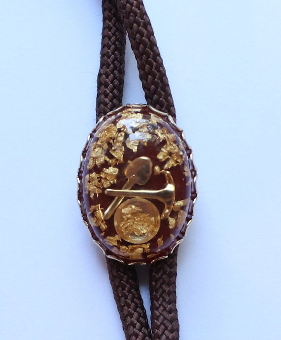 24k alaskan gold flake s bolo tie by paststore on
