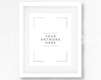 8x10 16x20 24x30 vertical digital white frame mockup white wall background styled photography poster mockup framed art instant download