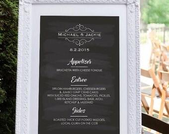 Wedding menu board etsy menu template catering menu menu board wedding menu wedding menu sign pronofoot35fo Gallery