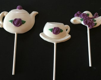 Tea Set Chocolate Lollipops