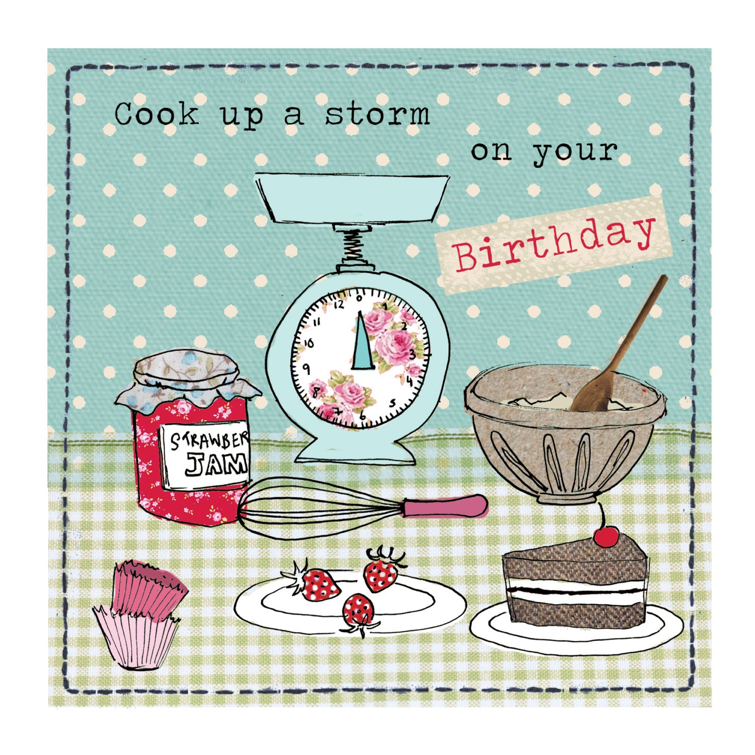 Cook Up A Storm Birthday Card By TopTableDesign On Etsy