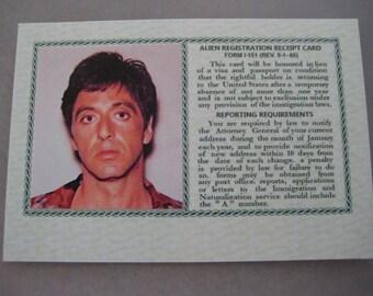 SCARFACE MOVIE - Tony Montana Green Card ( Screen Accurate ) B3G1F