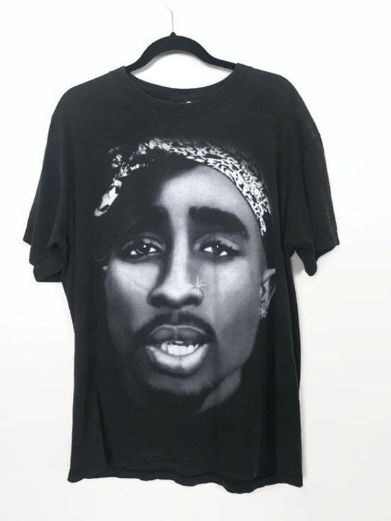 tupac shirt vintage hip hop t shirt tupac shakur shirt 90s. Black Bedroom Furniture Sets. Home Design Ideas