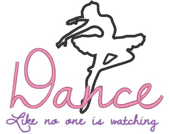 Dance (Ballet) Embroidery Applique Design 5x7