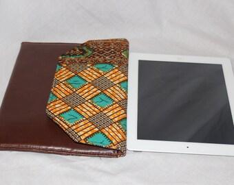 Handmade African Print iPad Case for iPad Case, Kindle, Nook Clutch