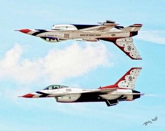 Aviation Portrait: USAF Thunderbirds Reflection Pass