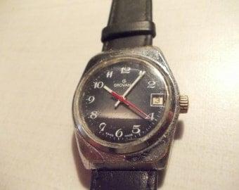 grovana swiss made vintage mens watch