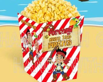 Printable popcorn box Jack and the Neverland Pirates