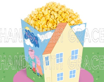 Printable popcorn box Peppa Pig