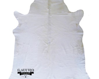 Solid White Cowhide Rug - Luxurious & Unique Cowhide - Premium Quality