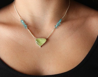 Prehnite & Apatite Necklace