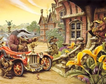 Take Him Inside limited edition print, hand-signed and numbered by Rodney Matthews (The Wind in the Willows)