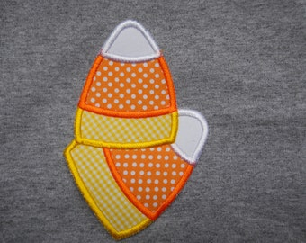 Cute Candy Corn iron on or sew on applique patch