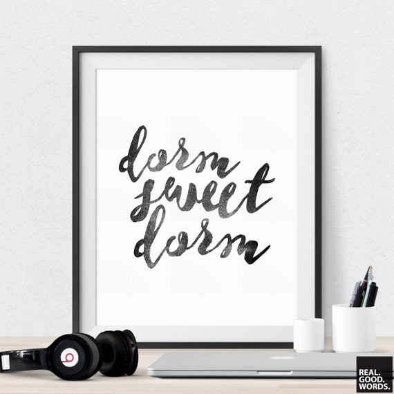 Wall Decoration For College : Dorm wall art decor sweet college print