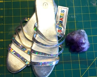90s holographic sandal size 7