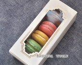 30 set Window Macaron boxe Gift boxes, chocolate box, cookie box,paper box,craft box,packaging Box,bakes packing product,Wedding faves