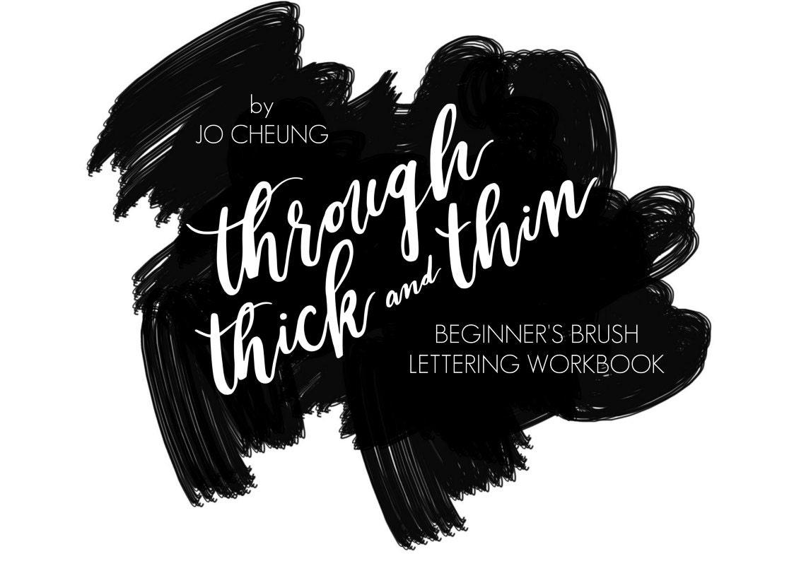 Brush lettering workbook calligraphy guide worksheets practice