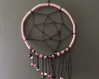 "Hanging beads 6"" handmade dreamcatcher"