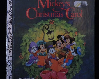 "A Golden Little Book 1983 Walt Disney Productions' ""Mickey's Christmas Carol"""