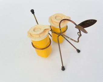 Vintage Wire Donkey Salt & Pepper Holder