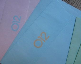 SALE! Cute Vintage 012 Benetton Notepaper - 80s - Carinissima Carta da Lettere 012 Benetton