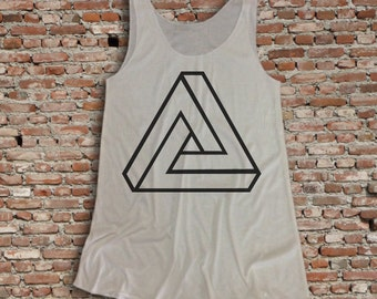 triangle tattoo Tank Top. Women's Clothing. / Womens Tank top Size S-L