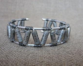 Silver Aztec Capacitor Cuff