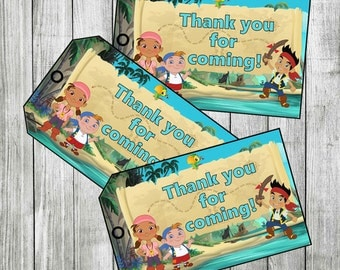 Jake and the Neverland Pirates Thank you Tags, Favor Tags (Non-Personalized) PRINTABLE, INSTANT DOWNLOAD