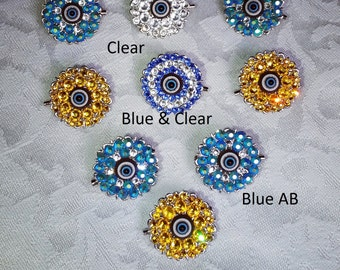 Evil eye pins/brooches