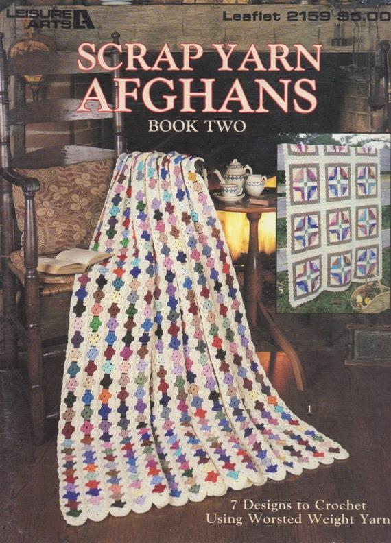 Crochet Afghan Patterns Using Scrap Yarn : Scrap Yarn Afghans Book 2 7 Crochet Designs by BarXHorseRanch