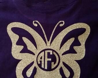 Butterfly monogram shirt