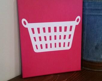Laundry Room Basket Canvas Art
