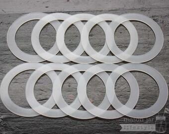 Silicone Sealing Ring 10 pack * Fermentation Tool * for Regular Mouth Mason Jars