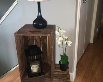 "Custom crate ""L"" side table"