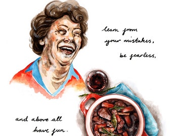 Julia Child quote Giclee print