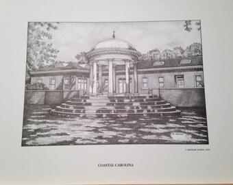 Coastal Carolina 11x14 print of Gazebo AKA Athaneum