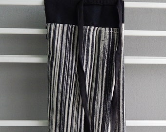 hand painted fisherman pants, black white n grey, 5