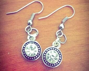 Small Stone Dangle Earrings