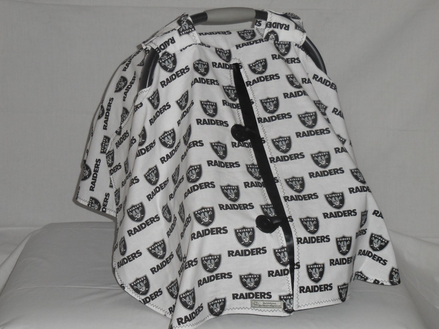 oakland raiders baby car seat cover canopy. Black Bedroom Furniture Sets. Home Design Ideas
